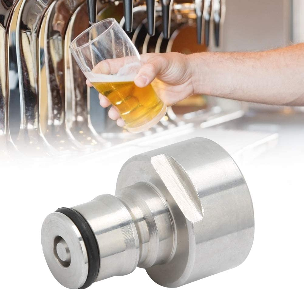 2Pcs Acier inoxydable G5//8in Thread Ball Lock Conversion /à d/éconnexion rapide Keg Beer Barrel Coupler Adapter for Home Kitchen Winery Keg Coupler Adapter Set