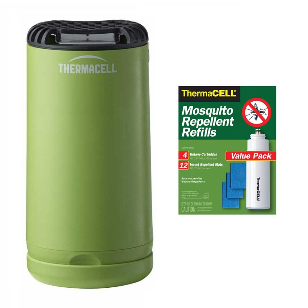 Thermacell MR-PSG Patio Shield Mosquito Repeller (Green) and 48-Hour Refill Pack (R-4)
