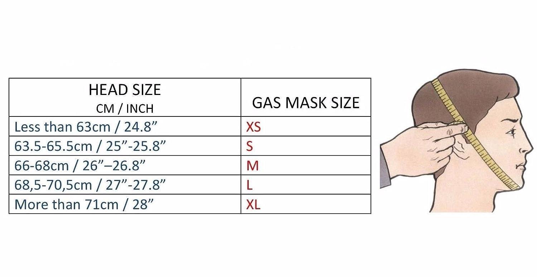 Genuine Original Soviet Russian gas mask GP-5 Surplus USSR face mask (Small) - - Amazon.com