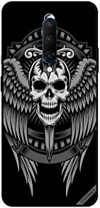 For OnePlus 7T Pro Case Cover Skull Have Eagle Wings