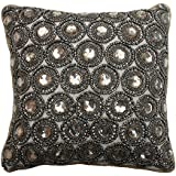 Thro by Marlo Lorenz Winston Rhinestone Pillow, Gold