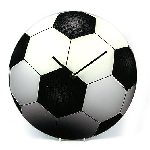 Vidrio de magnífico fútbol reloj de pared de nuevo y en caja de ...
