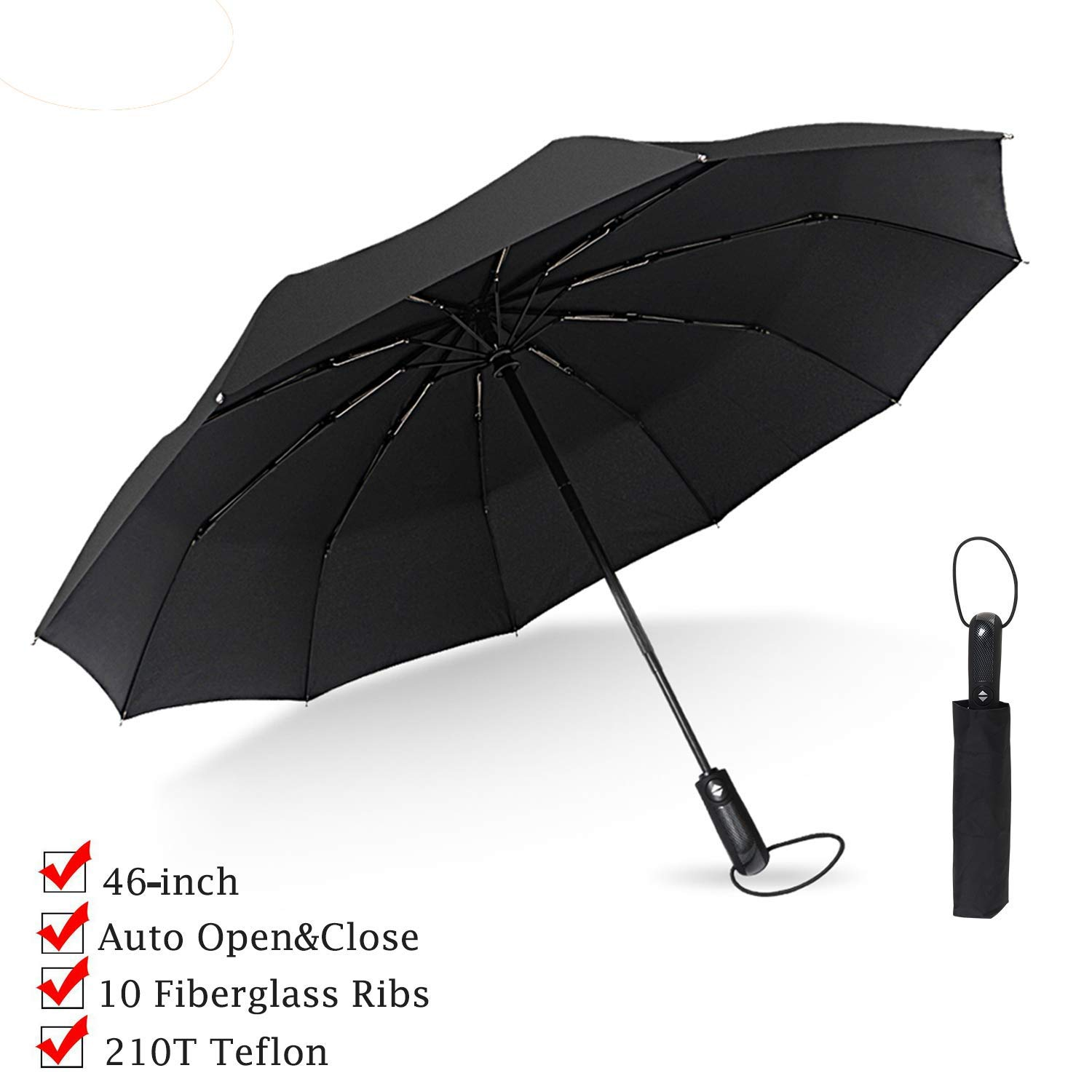 Double Layer Inverted Reverse Folding Umbrella For Womens Mens Windproof Rain Anti-uv Reverse C Handle Umbrella Self Stand Volume Large Home