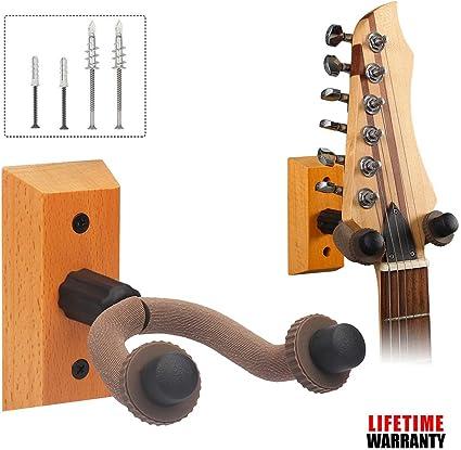 Soporte de pared para guitarra y guitarra: Amazon.es: Instrumentos ...