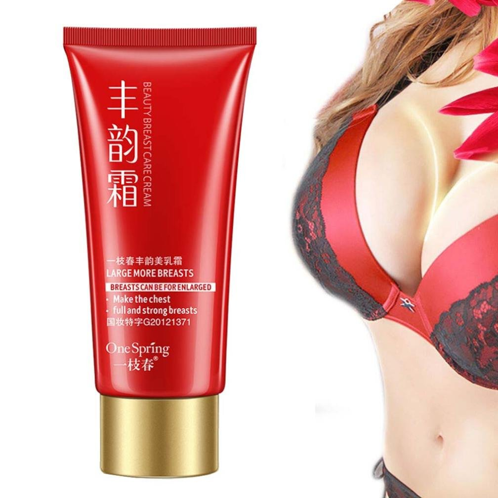 Breast Enhancement Enlargement Cream Smooth Big Bust Large Curvy Breast, Natural Breast Butt Enlargement Cream for Natural Curves, Firming, Lifting and Plumping (Red)