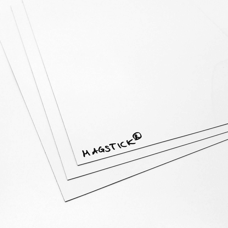 beschreibbar nass abwischbar I mag/_176 Magstick/® Whiteboard-Folie selbstklebend I DIN A2 I flexibler Haftgrund f/ür Magnete I Ferrofolie in wei/ß