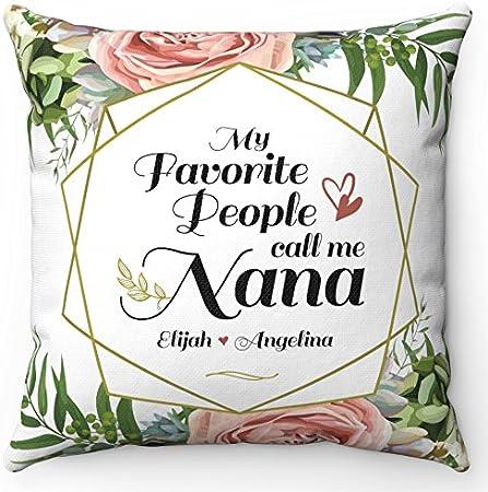 Grandma Pillow Personalized Nana Pillow My Favorite People Call Me Nana Personalized For Grandma Personalized Pillow For Grandma Christmas Pillow Grandkids Pillow Nana Home Kitchen