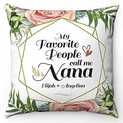 Amazon.com: Día de la madre NANA almohada W/relleno. Grandma ...