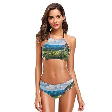 d191082651 Amazon.com: LORVIES Womens Impressive Views Bikini Set High Neck Halter  Bikini Swimsuit Two Piece Bathing Suits: Clothing