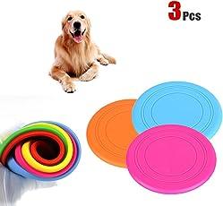 Yosoo 3 piezas 7'' Volador Disco para Perro de Juguete Frisbee al Aire Libre Entrenamiento