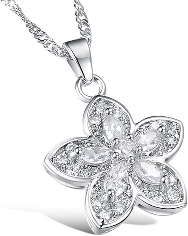 Ziyier Men Flower Pendant Necklace