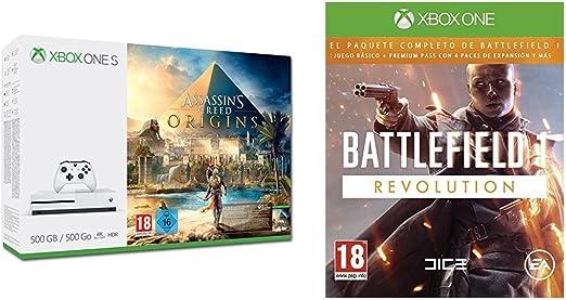 Xbox One S - Consola 500 GB Assassins Creed Origins + Battlefield ...