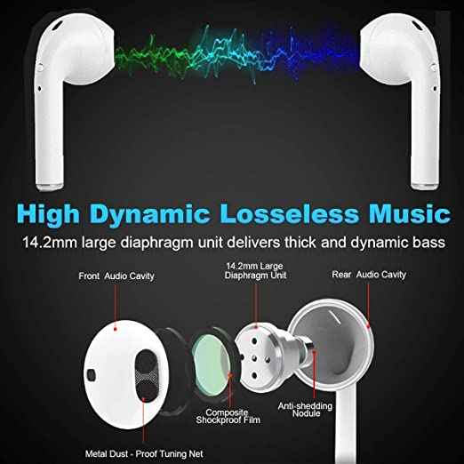 Auriculares Bluetooth I8X-TWS, Compatible con Samsung Galaxy S7 S8 Android iOS para la mayoría de los teléfonos Inteligentes: Amazon.es: Electrónica