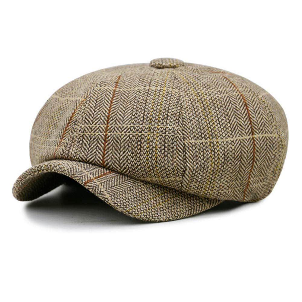 GESDY Vintage 8 Panel Octagonal Caps Flat Newsboy Beret Hats Outdoor Painter Hat for Men