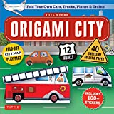 Origami City Kit: Fold Your Own Cars, Trucks, Planes & Trains!: Kit Includes Origami Book, 12 Projects, 40 Origami Papers, 130 Stickers and City Map
