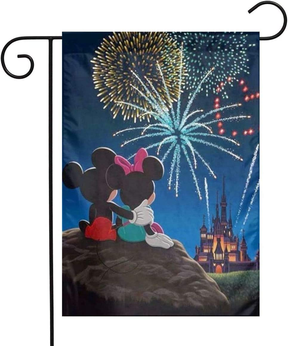 LoV Mickey Mouse Happy 4th of July Day (2) Garden Flag Home Outdoor/Indoor Yard Flag 12 X 18 Inch
