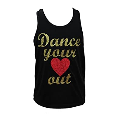 2f9417132f2c9 Reflectionz Big Girls Black  quot Dance Your Heart Out quot  Glitter Lace  Tank 8