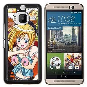 "Be-Star Único Patrón Plástico Duro Fundas Cover Cubre Hard Case Cover Para HTC One M9+ / M9 Plus (Not M9) ( Gracioso - Anime japonés Donut Chica"" )"