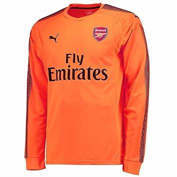 1dcaef481 2017-2018 Arsenal Puma Away LS Goalkeeper Shirt (Pink) - Kids ...