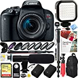 Beach Camera Canon EOS Rebel T7i Digital SLR Camera with EF-S 18-55mm IS STM Lens (1894C002) with 64GB Dual Battery & Shotgun Mic Pro Mobile Video Bundle