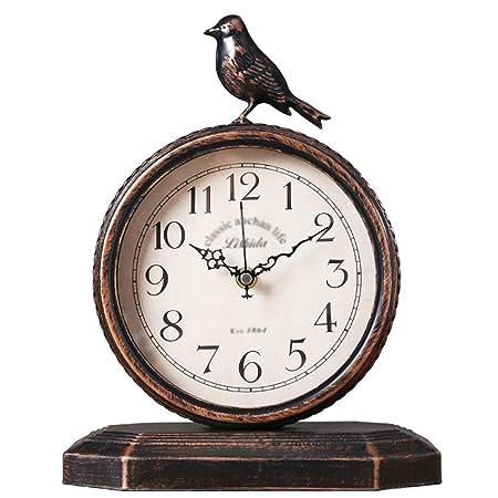 YONGMEI Reloj de Escritorio: Reloj Retro, Sala de Estar, Gran ...