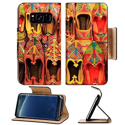 Luxlady Premium Samsung Galaxy S8 Plus S8+ Flip Pu Leather Wallet Case IMAGE ID 25605925 Display of colorful shoes Mehrangarh Fort Jodhpur Rajasthan India