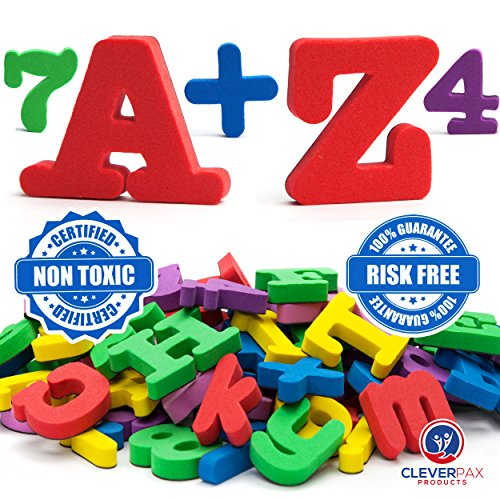 Magnetic Alphabet Train - CleverPax MAGNETIC LETTERS numbers for toddlers Alphabet magnets fridge educating kids SET of 67 foam magnets letters refrigerator ABC magnets toy preschool learning education ABCs kids letters