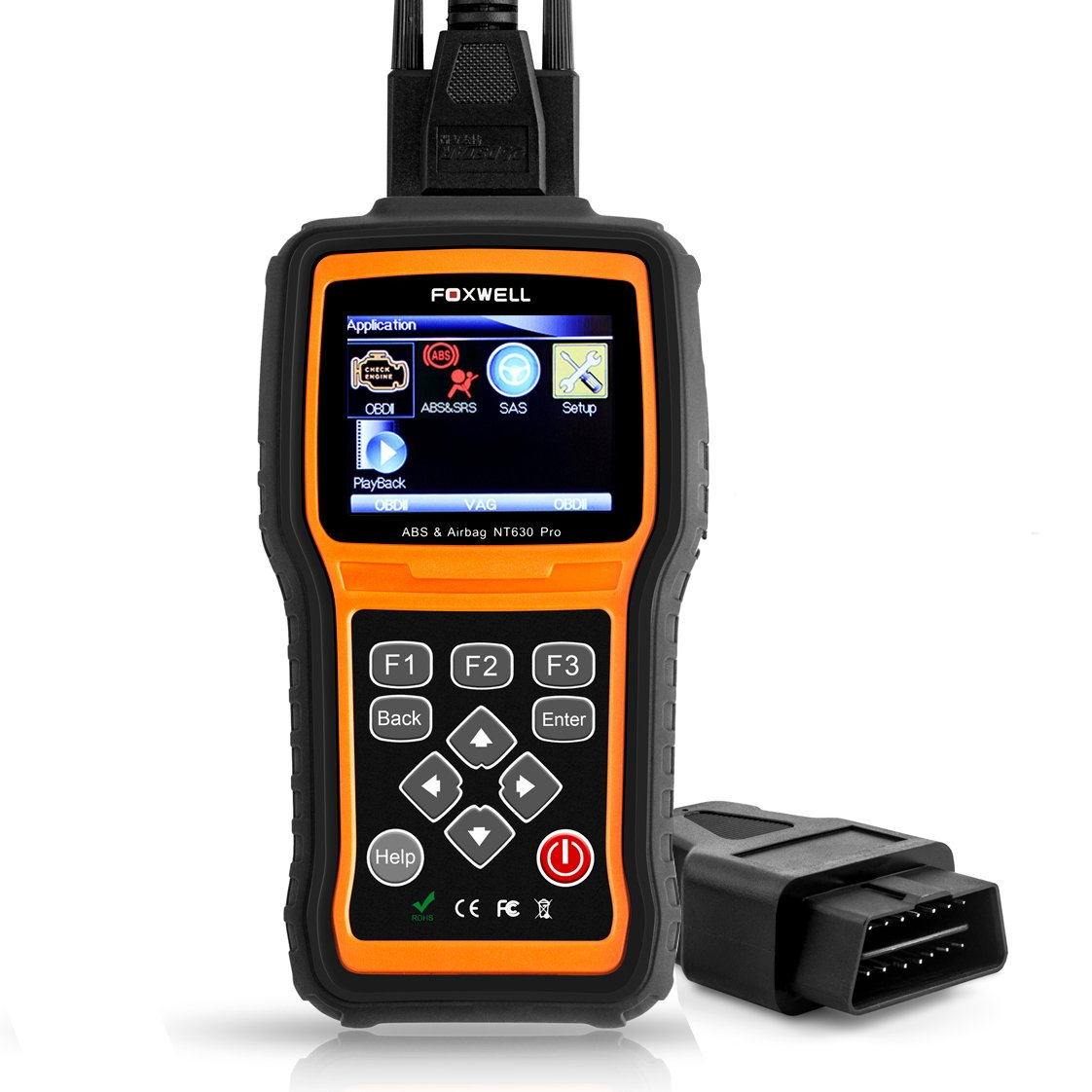 FOXWELL NT630 Scan Tool Engine / ABS / Airbag / SAS Crash Data Reset Tool  Code Reader Car Diagnostic Scanner