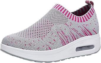 Zapatos Gym Running Verano Primavera otoño,ZARLLE Mujeres de Moda de Malla de Aumento de Zapatos Blandos Fondo de balancín Zapatos Zapatillas: Amazon.es: Ropa y accesorios
