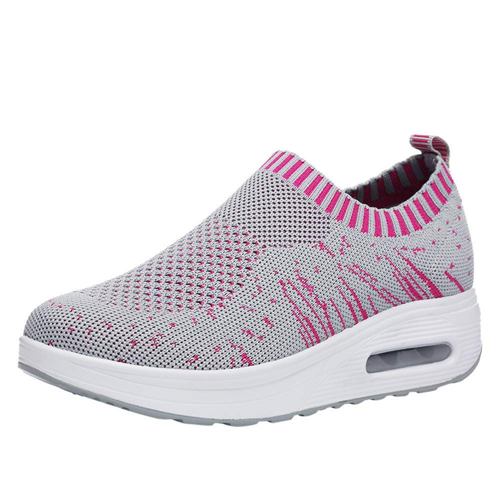 Solike Chaussures Femme Fille de Sport Chaussettes Chaussures à Plateforme Anti-dérapage Running Basket Mode Fitness Gym Respirants Outdoor Sneakers