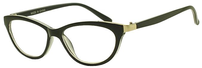 204e2327cd Women s Black Elegant RX Optical Prescription Ready +1.00 Strength Reading  Glasses