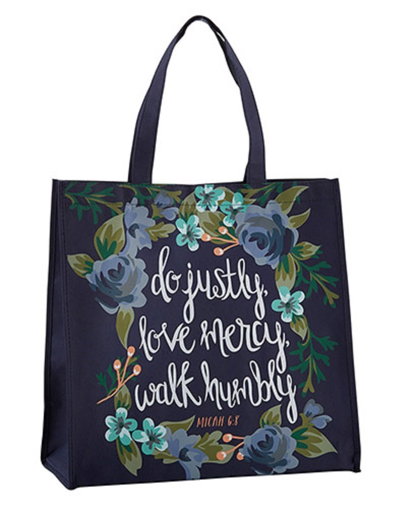 Justly, Mercy, Humbly Tote Bag, Set of 2.