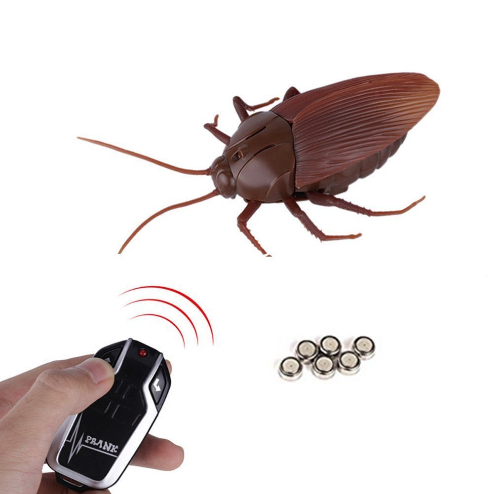 Infrared Remote Control Cockroach Toy Novelty Fake Giant Roaches Look Real Prank Toys Insects Joke Trick Bugs for Kids Pet Toy by Unknown (Image #2)
