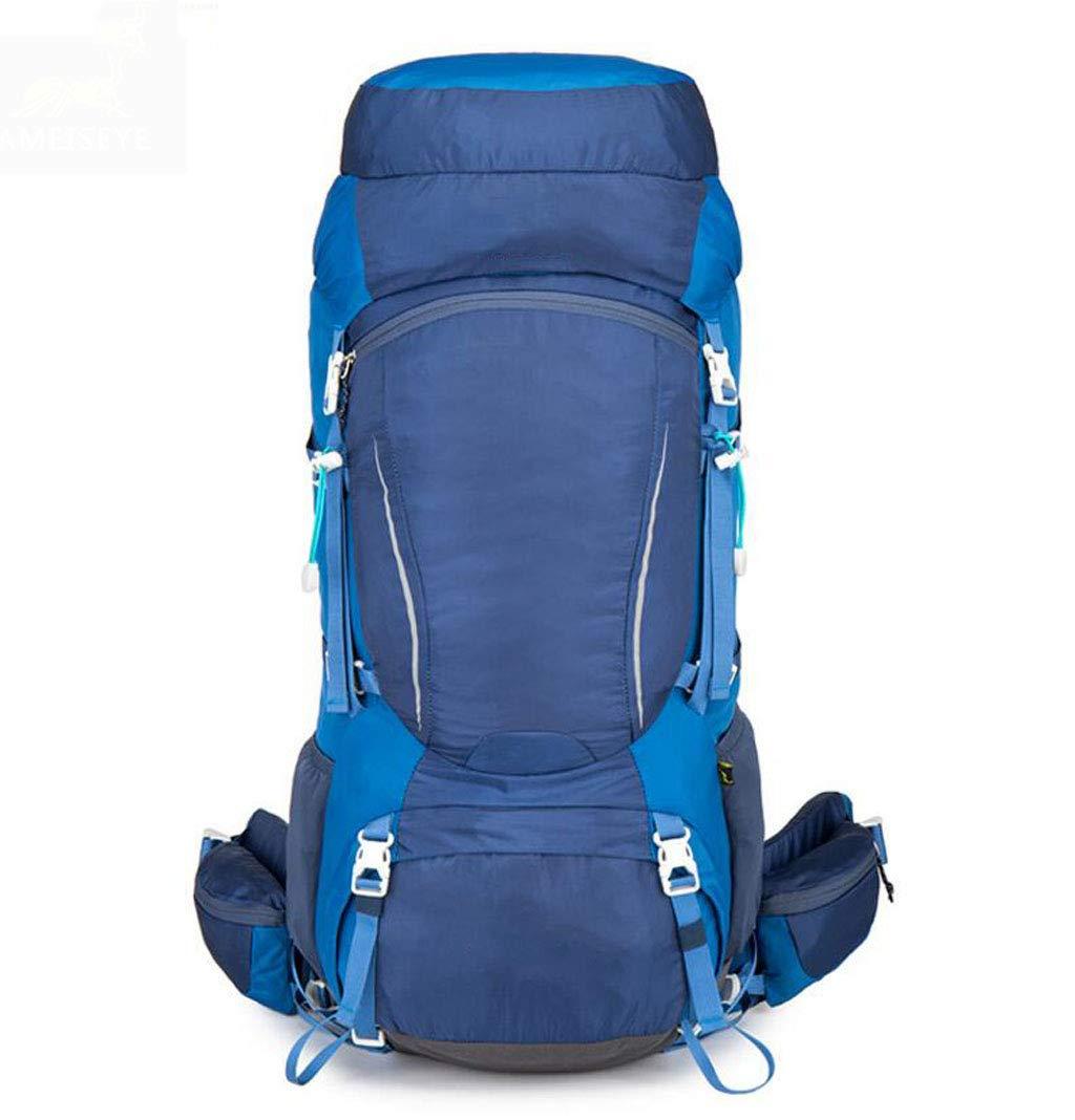 JSHFD プロフェッショナル アウトドア 登山用バッグ バックパック ハイキング 大容量バックパック 70L  ブルー B07GFJ2QQV