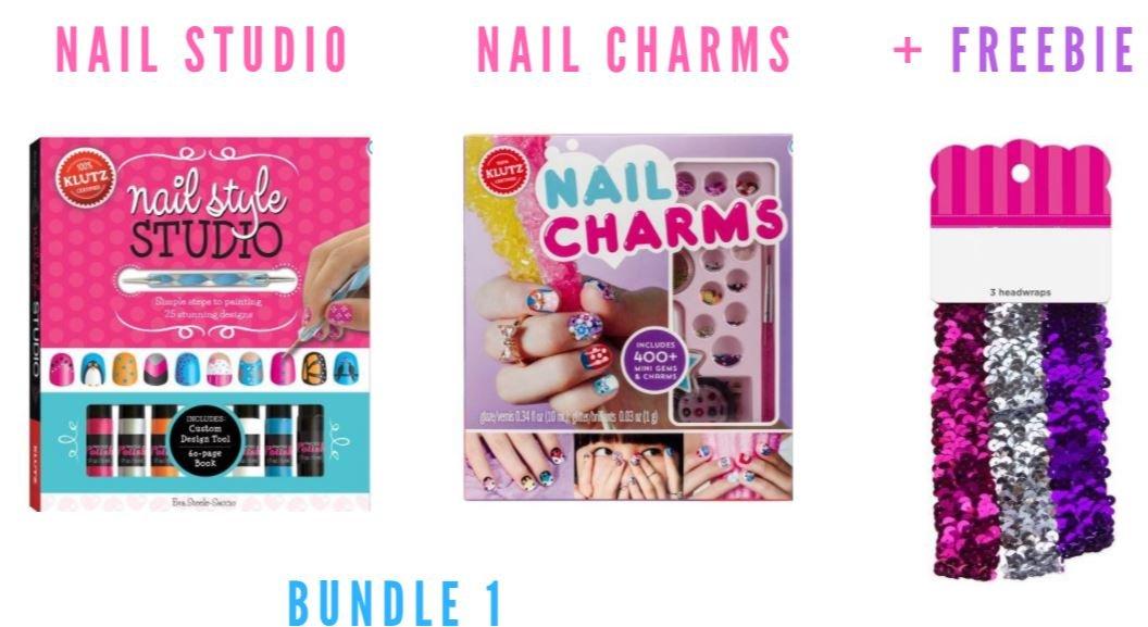 Amazon.com: Klutz Nail Style Studio Book Kit (Bundle 1 + Freebie ...