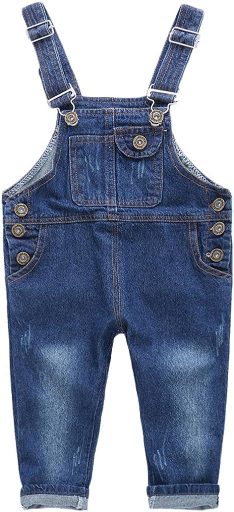 r.b.hickory Niños Bebé Pantalones de Peto Vaqueros Overalls Pantalón Largo Ajustable 2-3 Años