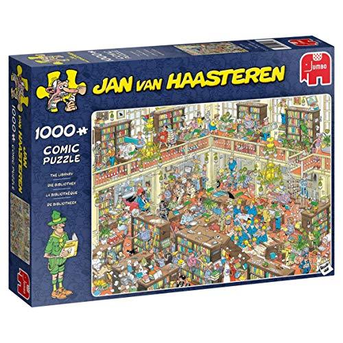 Jumbo 19092 Jan Van Haasteren-The Library 1000 Piece Jigsaw Puzzle, Multi ()