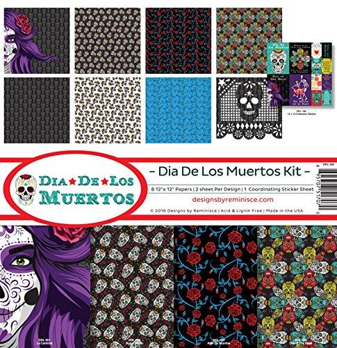 Mache Paper Dia Muertos De Los - Reminisce Scrapbook Dia De Los Muertos Collection Kit