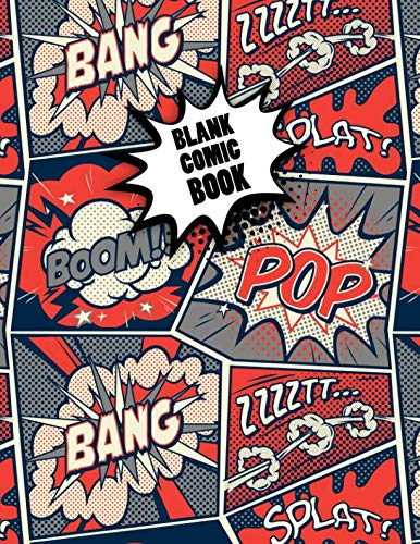 Blank Comic Book: Cute Superheroes Multi Template Notebook to Draw and Create Your Own Awesome Comics. Perfect Gift for Christmas with a Variety of Templates for Comic Book Drawing and Sketching. -