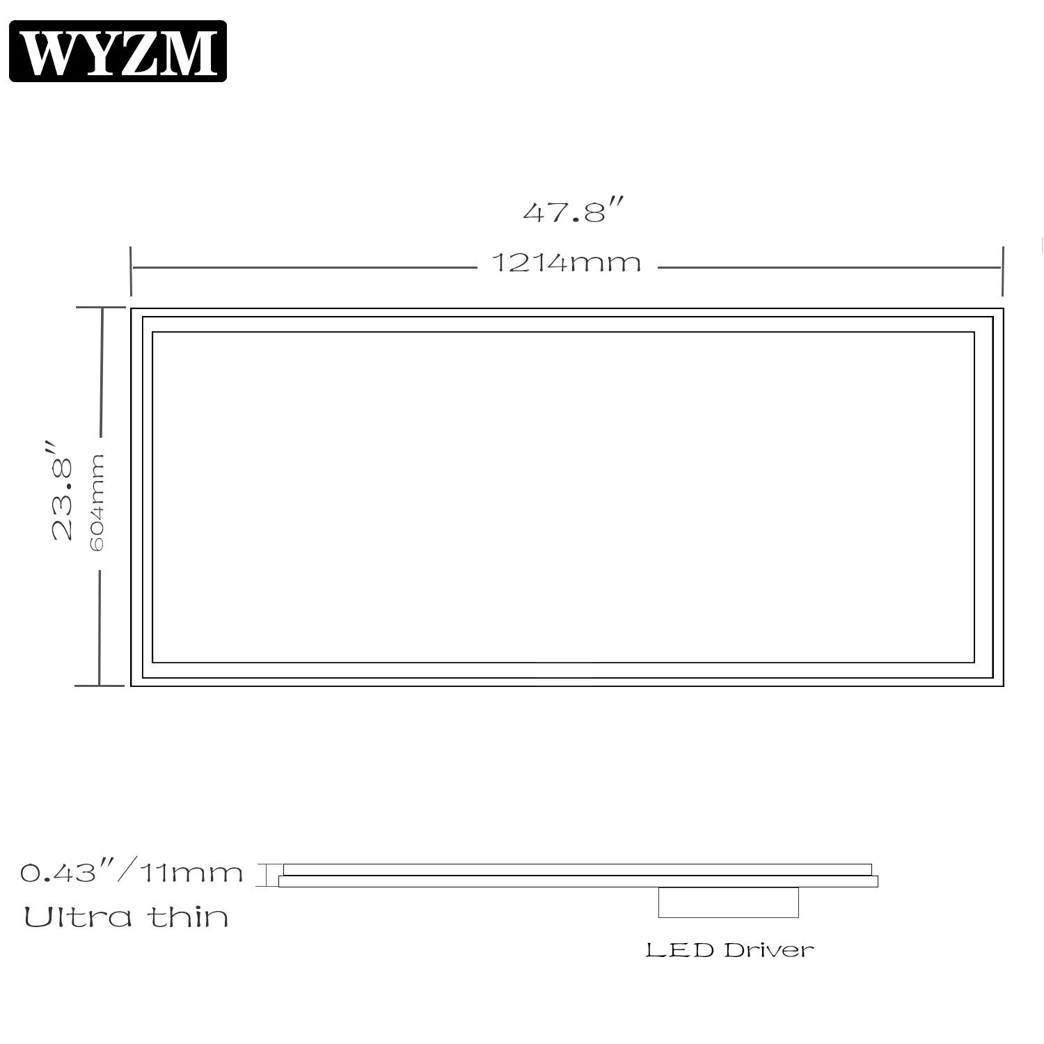 Amazon.com: WYZM 2x2FT 40W Flat LED Panel Light 5000K, Drop Ceiling