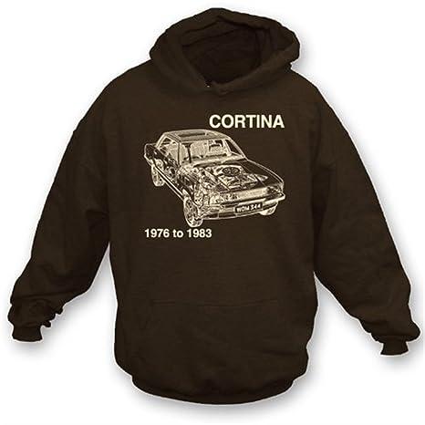 Sudadera con capucha de Ford Cortina pequeña, color Brown