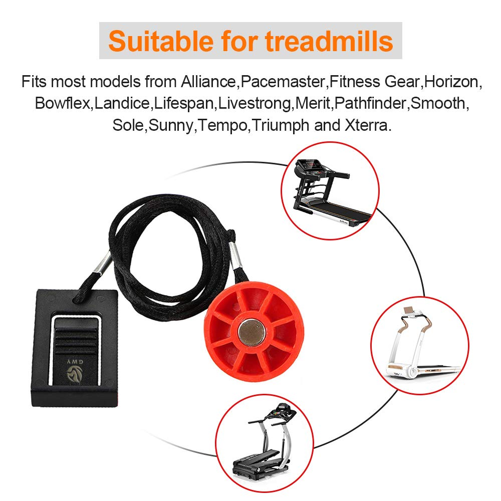 Weslo Proform Freemotion Epic Treadmill Universal Magnet Safety Key for All NordicTrack Golds Gym and Healthrider Treadmills Reebok Image