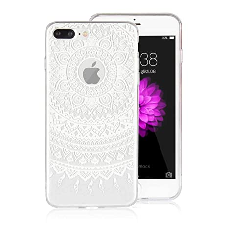 DENDICO Funda iPhone 7 Plus Carcasa iPhone 8 Plus Silicona Ultra Delgado de Estuche Funda Transparente Suave TPU para Apple iPhone 7 Plus / 8 Plus ...