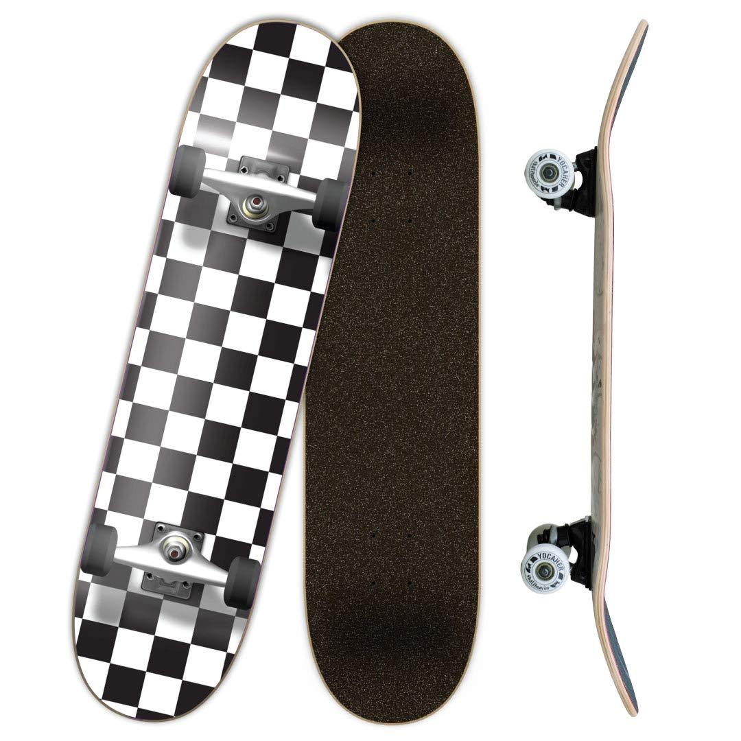 Checker Complete Skateboard 7.75 Skateboards, Checker White