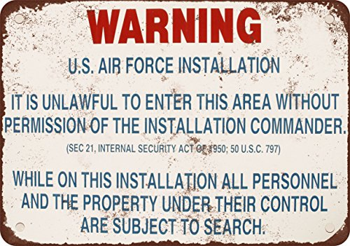 7-x-10-metal-sign-warning-us-air-force-installation-vintage-look-reproduction
