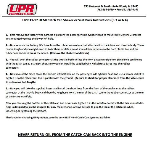 11-18 UPR 6.4L Billet Catch Can New HEMI Technology Z-Bracket Scat Pack Black by UPR Products (Image #4)