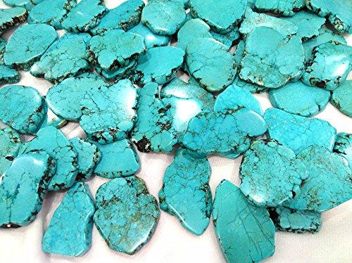 10pcs Turquoise Stone 50-80mm Slab Freeform Blue Green Turquoise Cabochons Turquoise Jewelry (Turquoise Freeform Shape)