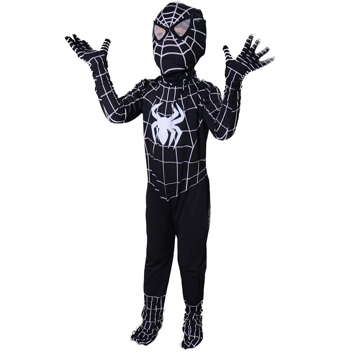 Amazon.com Boys Venom Black Spiderman Costume Kids Superhero Cosplay Spandex Bodysuit Clothing  sc 1 st  Amazon.com & Amazon.com: Boys Venom Black Spiderman Costume Kids Superhero ...