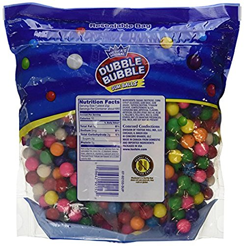 (Dubble Bubble Gumball Refill, 8 Flavors, 3.3 lbs (2 Pack) GFBN)