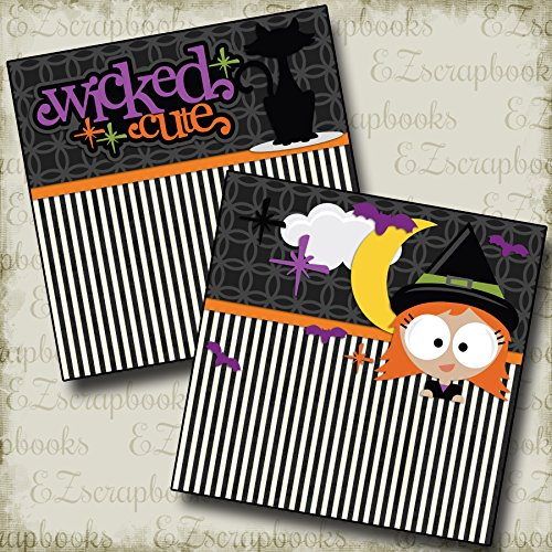 WICKED CUTE Non-Photo-Mat - Premade Scrapbook Pages - EZ Layout -